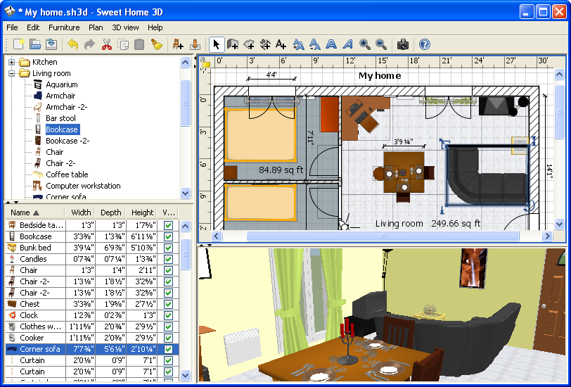 An easy to use interior design tool. Sweet Home 3D 5 6 free download   Downloads   freeware  shareware