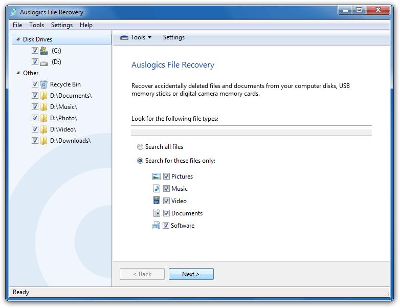 Resultado de imagen de Auslogics File Recovery 8
