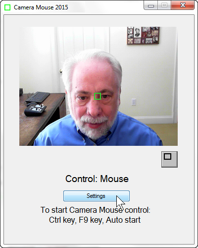 Camera Mouse screenshot